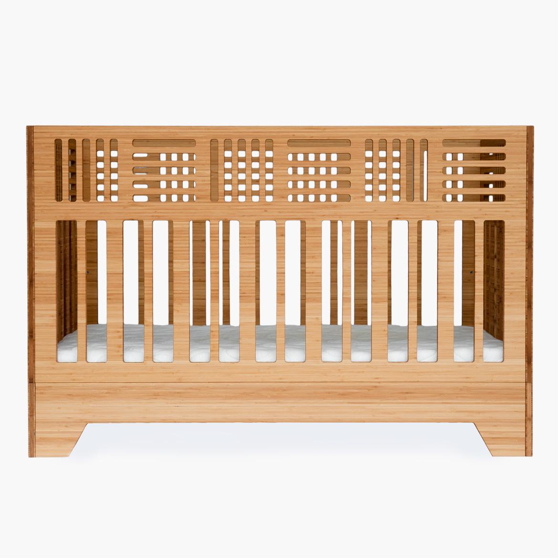 Io Crib - Modern Solid Bamboo Crib