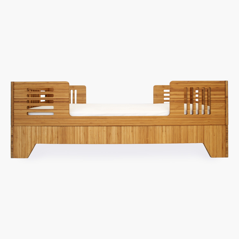 ioline bed  modern solid bamboo toddler bed  kalon studios us - ioline bed