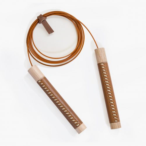 Jump Rope White Oak and Leather