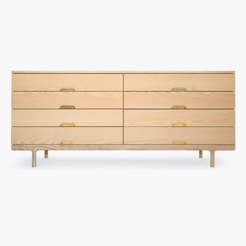 Simple Dresser in ash and brass