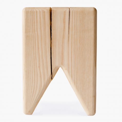 Stump stool raw wood