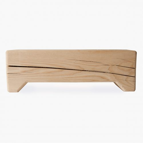 Trunk bench raw wood