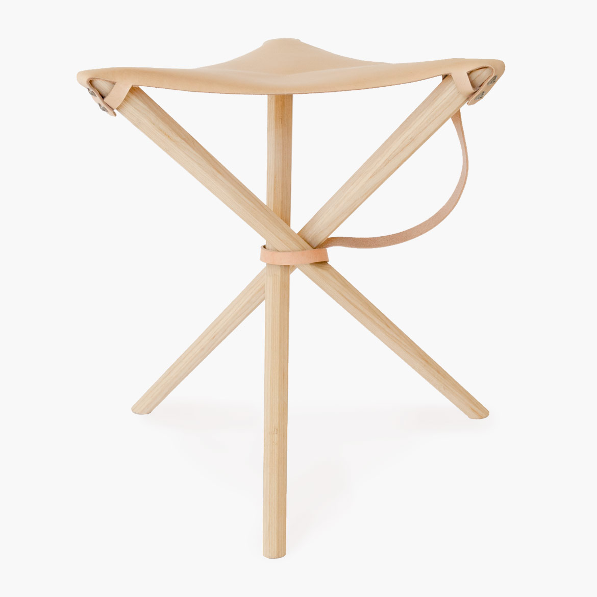 Coyote Stool in Veg Tan Leather