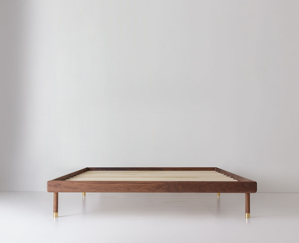 Simple Bed Walnut